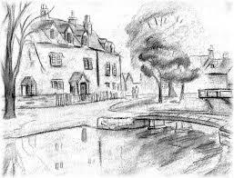 gallery easy scenery sketches drawings art gallery