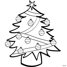 decorated christmas tree coloring pages for kids coloring point