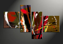 Abstract Home Decor 4 Piece Colorful Abstract Home Decor Photo Canvas