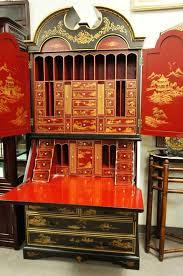 bureau ebay chinoiserie black lacquer bureau flip desk cabinet id home