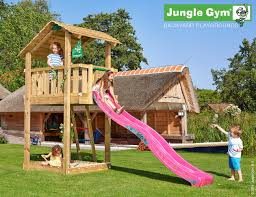 jungle gym shelter with slide standalone
