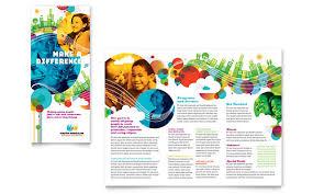 brochure templates publisher free tri fold brochure template word