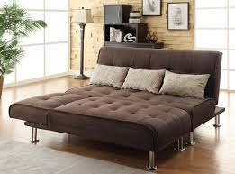 cheap faux leather sofa bed futon with chrome feet