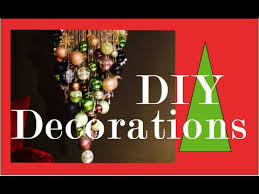 Decoration With Christmas Balls by Diy Christmas Ball Chandelier Christmas Decorations Youtube