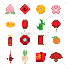 new year items collection of new year items vector image 1972789