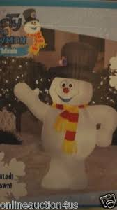 christmas airblown inflatable gemmy rudolph sam the snowman blow