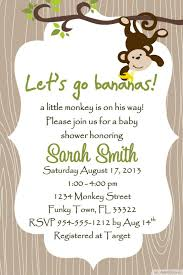 Unique Baby Shower Invitation Cards Baby Shower Invitations Surprising Monkey Baby Shower Invitations
