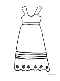 printable coloring page 500 dresses
