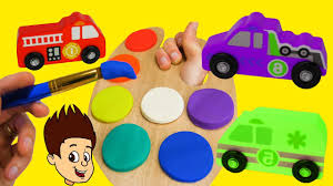 toddler toy car best toddler learning video for kids wrong color play doh paint