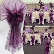 Wedding Chair Sash Wedding Favor Purple Color 60pcs Lot Wedding Chair Sash 65cm