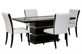 White Leather Dining Room Set The Advantages Of Placing Black And White Dining Chairs In Your