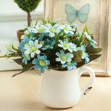 fleurs dans une chambre romantique artificielle marguerite fleur de soie vivement