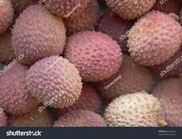 fruit similar to lychee lychee or laichi lichu tropical fruit stock photo 43556023