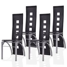 set of 4 dining room chairs giantex set of 4 dining chairs pu leather steel frame high back