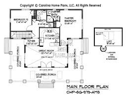 craftsman bungalow floor plans small craftsman bungalow house plan chp sg 979 ams sq ft