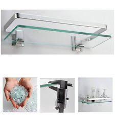 glass bathroom shelf bath ebay
