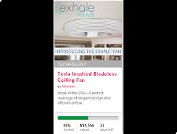 Exhale Ceiling Fans Tesla Inspired Bladeless Ceiling Fan Indiegogo