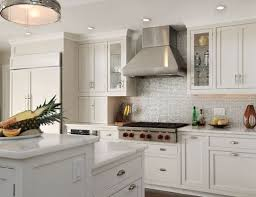 white cabinets backsplash for glossy look