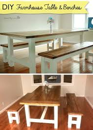 Free Woodworking Plans Dining Room Table by How To Build A Farmhouse Table And Benches Rustic Decor