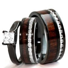 black wedding sets affordable priced quality wedding rings