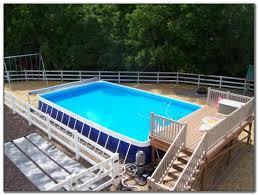 above ground pool wooden decks decks home decorating ideas
