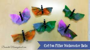 kids crafts coffee filter watercolor bats domestic mommyhood