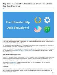 Desk Com Vs Zendesk Help Scout Vs Zendesk Vs Freshdesk Vs Groove The Ultimate Help De U2026