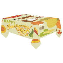 autumn harvest table linens mypop thanksgiving pumpkin grape tablecloth set 60x104 inches