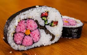 how to make flower sushi art amazing food recipe youtube