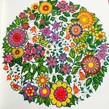 secret garden colouring book 7 colours