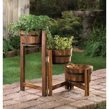 tri level garden planter ladder grow organic vegetable gardening