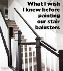 how paint stair railings painted stairs love the look two toned banisters these are great tips for painting stair