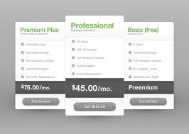 price plan design free price table template the design work