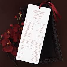 scroll wedding programs wedding program
