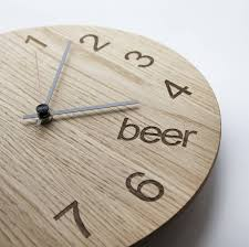 Design Clock by Beer O U0027clock By James Design Notonthehighstreet Com