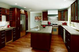 kitchen designs with dark cabinets glass front upper cabinets