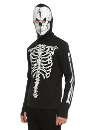 black glow in the dark skeleton hoodie topic