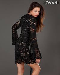 cocktail dresses 2014 black lace cocktail dress with long sleeves