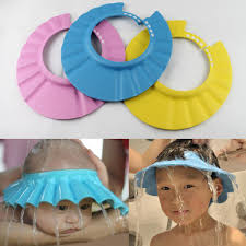 baby shower hat adjustable safe soft bathing baby shower cap wash hair for kids