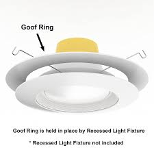 10 inch round recessed light trim 10 pack white goof ring trim ring for recessed can and 6 inch down
