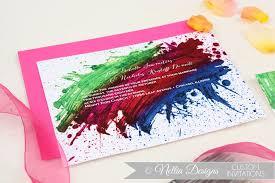 Indian Wedding Invitations Chicago Wedding Invitations Handmade Weddings By Bold Rainbow