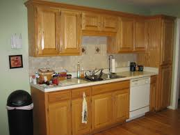 wood raised door walnut honey oak kitchen cabinets backsplash