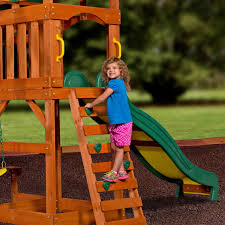backyard discovery tucson cedar wooden swing set walmart home
