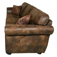 Microfiber Leather Sofa Porter Elk River Brown Microfiber Faux Suede Leather Sofa With 2