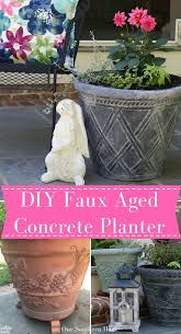 diy faux aged concrete planters our southern home