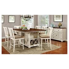counter height dining table with storage charming sun pine 7pc country storage counter height table set with