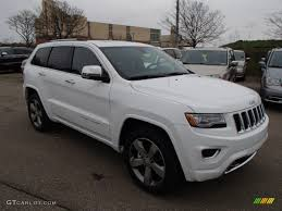 white jeep 2014 2014 bright white jeep grand cherokee overland 4x4 79872175 photo