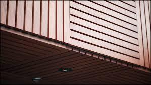 wood slat slat ceiling basement