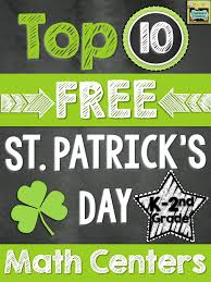 top 10 free math centers for st patrick u0027s day k 2nd