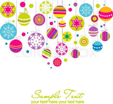 christmas pink tree with stars stock vector colourbox